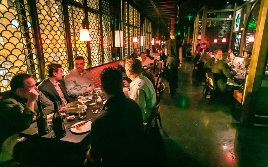 It's easy to draw parallels between that groundbreaking restaurant [The Mandarin] and the newly opened Hakkasan on Kearny at Market. As at the Mandarin, diners ascend to the dining room, where they enter an elegant space that reportedly cost more than $7 million.
