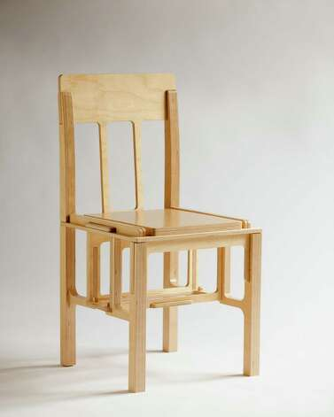 """Twelve Part Chair,"" made from a sheet of baltic birch plywood, is made of interlocking parts. Photo: Courtesy John Webb"
