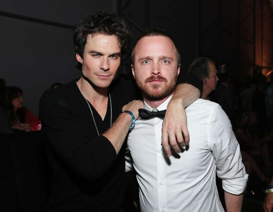 Ian Somerhalder, and Aaron Paul attend DIRECTV Super Saturday Night Featuring Special Guest Justin Timberlake & Co-Hosted By Mark Cuban's AXS TV on February 2, 2013 in New Orleans, Louisiana. Photo: Neilson Barnard, Getty Images For DirecTV / 2013 Getty Images