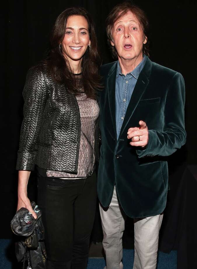 Paul McCartney (R) and Nancy Shevell attend DIRECTV Super Saturday Night Featuring Special Guest Justin Timberlake & Co-Hosted By Mark Cuban's AXS TV on February 2, 2013 in New Orleans, Louisiana. Photo: Christopher Polk, Getty Images For DirecTV / 2013 Getty Images