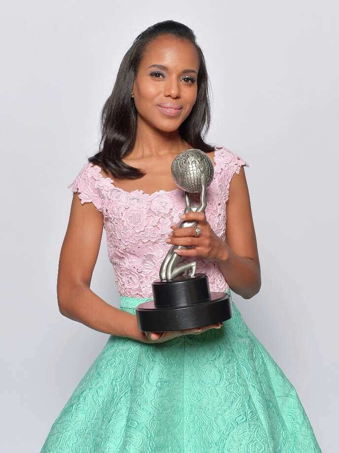 Actress Kerry Washington, winner of Outstanding Actress in a Drama Series for 'Scandal,' Outstanding Supporting Actress in a Motion Picture for 'Django Unchained' and Honoree of the President's Award, poses for a portrait during the 44th NAACP Image Awards at The Shrine Auditorium on February 1, 2013 in Los Angeles, California. Photo: Charley Gallay, Getty Images For NAACP Image Awa / 2013 Getty Images