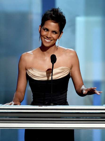Actress Halle Berry speaks onstage during the 44th NAACP Image Awards at The Shrine Auditorium on Fe