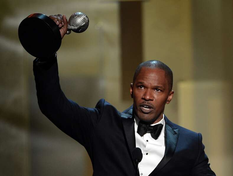Actor Jamie Foxx accepts Entertainer of the Year award onstage during the 44th NAACP Image Awards at