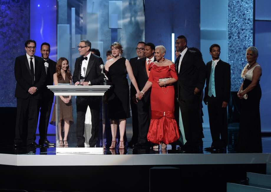Cast and crew of 'Welcome to Sweetie Pie's,' winner Outstanding Reality Series, speaks onstage during the 44th NAACP Image Awards at The Shrine Auditorium on February 1, 2013 in Los Angeles, California.  (Photo by Kevin Winter/Getty Images for NAACP Image Awards) Photo: Kevin Winter, (Credit Too Long, See Caption) / 2013 Getty Images