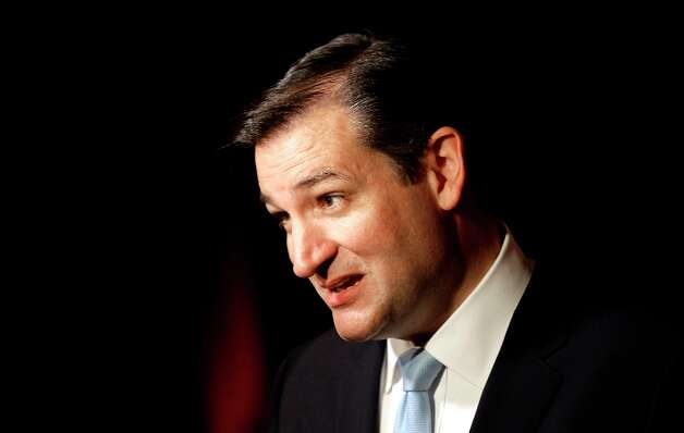 Republican candidate for U.S. Senate Ted Cruz answers a question from a television reporter Tuesday, Nov. 6, 2012, in Houston. Cruz is running against Democrat Paul Sadler to replace retiring U.S. Sen. Kay Bailey Hutchison. Photo: David J. Phillip, Associated Press / AP