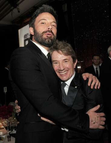 Actor-director Ben Affleck (L) and actor Martin Short attend the 65th Annual Directors Guild Of America Awards at Ray Dolby Ballroom at Hollywood & Highland on February 2, 2013 in Los Angeles, California. Photo: Kevin Winter, Getty Images / 2013 Getty Images