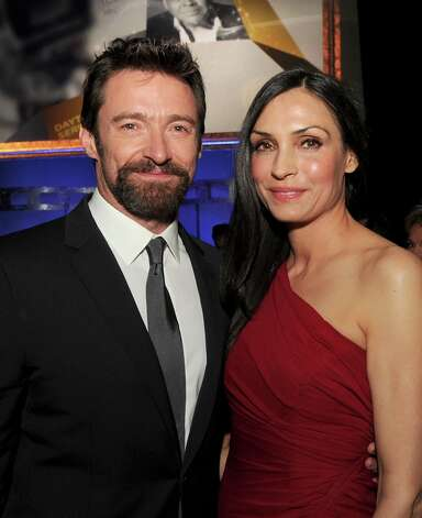 Actors Hugh Jackman and Famke Janssen attend the 65th Annual Directors Guild Of America Awards at Ray Dolby Ballroom at Hollywood & Highland on February 2, 2013 in Los Angeles, California. Photo: Kevin Winter, Getty Images / 2013 Getty Images