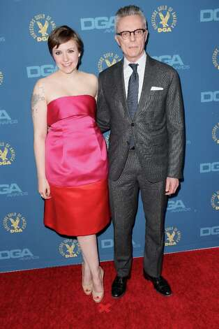 Actress Lena Dunham (L) and artist Carroll Dunham attend the 65th Annual Directors Guild Of America Awards at Ray Dolby Ballroom at Hollywood & Highland on February 2, 2013 in Los Angeles, California. Photo: Frederick M. Brown, Getty Images / 2013 Getty Images