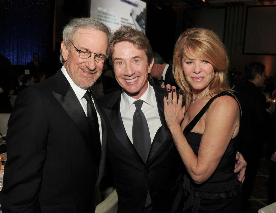 (L-R) Director Steven Spielberg, actors Martin Short and Kate Capshaw attend the 65th Annual Directors Guild Of America Awards at Ray Dolby Ballroom at Hollywood & Highland on February 2, 2013 in Los Angeles, California. Photo: Kevin Winter, Getty Images / 2013 Getty Images