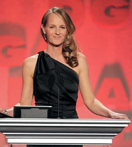 Actress Helen Hunt speaks onstage during the 65th Annual Directors Guild Of America Awards at Ray Dolby Ballroom at Hollywood & Highland on February 2, 2013 in Los Angeles, California. Photo: Kevin Winter, Getty Images / 2013 Getty Images