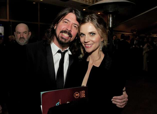 Musician-director Dave Grohl and wife Jordyn Blum during the 65th Annual Directors Guild Of America Awards at Ray Dolby Ballroom at Hollywood & Highland on February 2, 2013 in Los Angeles, California. Photo: Kevin Winter, Getty Images / 2013 Getty Images