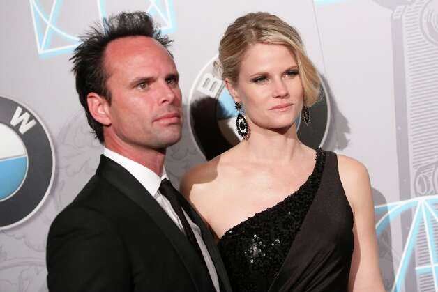 Actor Walton Goggins (L) and actress Joelle Carter attend the 17th Annual Art Directors Guild Awards For Excellence In Production Design at The Beverly Hilton Hotel on February 2, 2013 in Beverly Hills, California. Photo: Imeh Akpanudosen, Getty Images / 2013 Getty Images