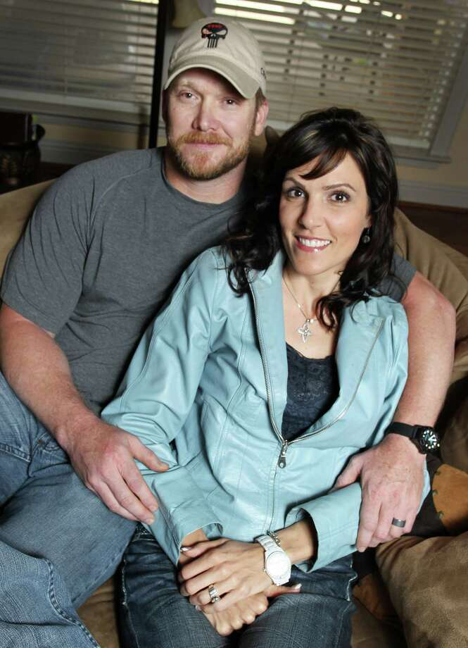 "Chris Kyle, a retired Navy SEAL and bestselling author of the book ""American Sniper: The Autobiography of the Most Lethal Sniper in U.S. Military History,"" is seen with his wife, Taya, April 6, 2012. Kyle was one of two people reported killed on the gun range at Rough Creek Lodge near Glen Rose, Saturday, February 2, 2013. (Paul Moseley/Fort Worth Star-Telegram/MCT) Photo: Paul Moseley, McClatchy-Tribune News Service / Fort Worth Star-Telegram"