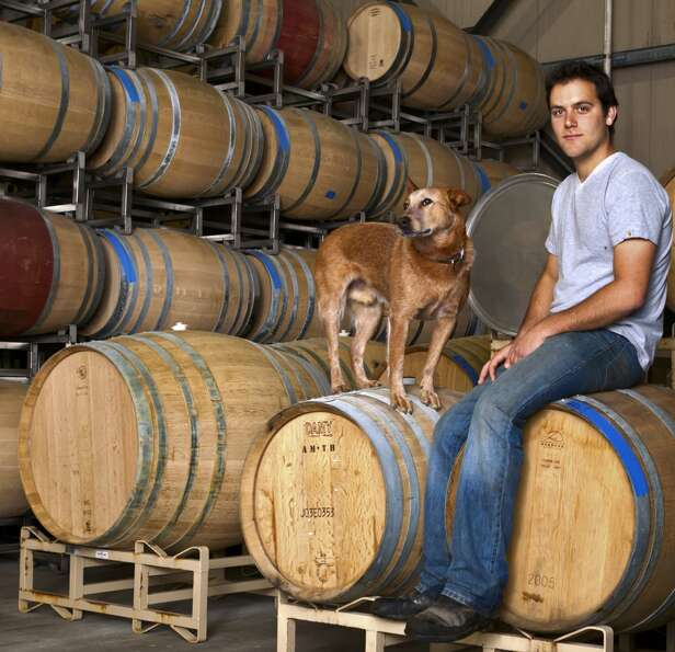 Winemaker to Watch:  Anthony Yount and his Queensland Heeler, Waylon