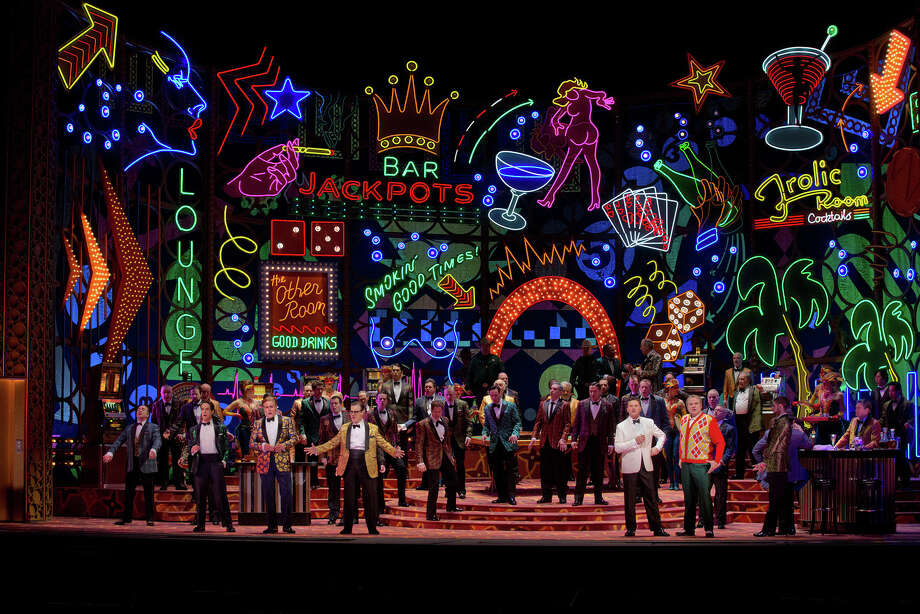 "A scene from Act I of Verdi's ""Rigoletto"" at the Met. Photo: Contributed Photo"