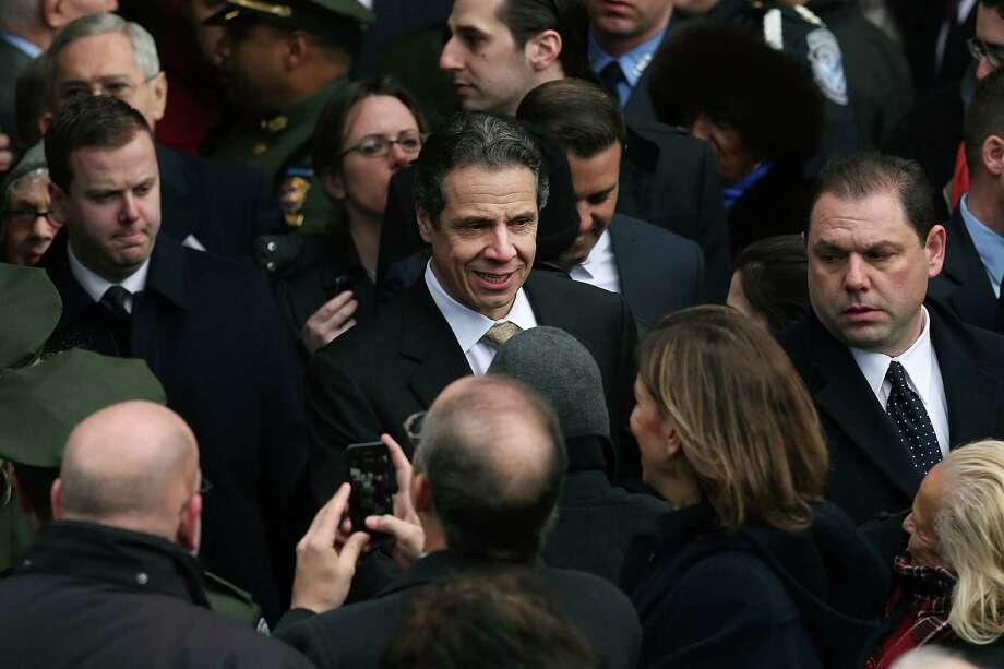NEW YORK, NY - FEBRUARY 04:  New York Governor Andrew Cuomo exits funeral services for former New York City Mayor Ed Koch at Manhattan's Temple Emanu-El on February 4, 2013 in New York City.The iconic former New York mayor passed away on February 1, 2013 in New York City at age 88. Ed Koch was New York's 105th mayor and ran the city from 1978-89. He was often outspoken and combative and has been credited with rescuing the city from near-financial ruin during a three-term City Hall run. Photo: Spencer Platt, Getty Images / 2013 Getty Images