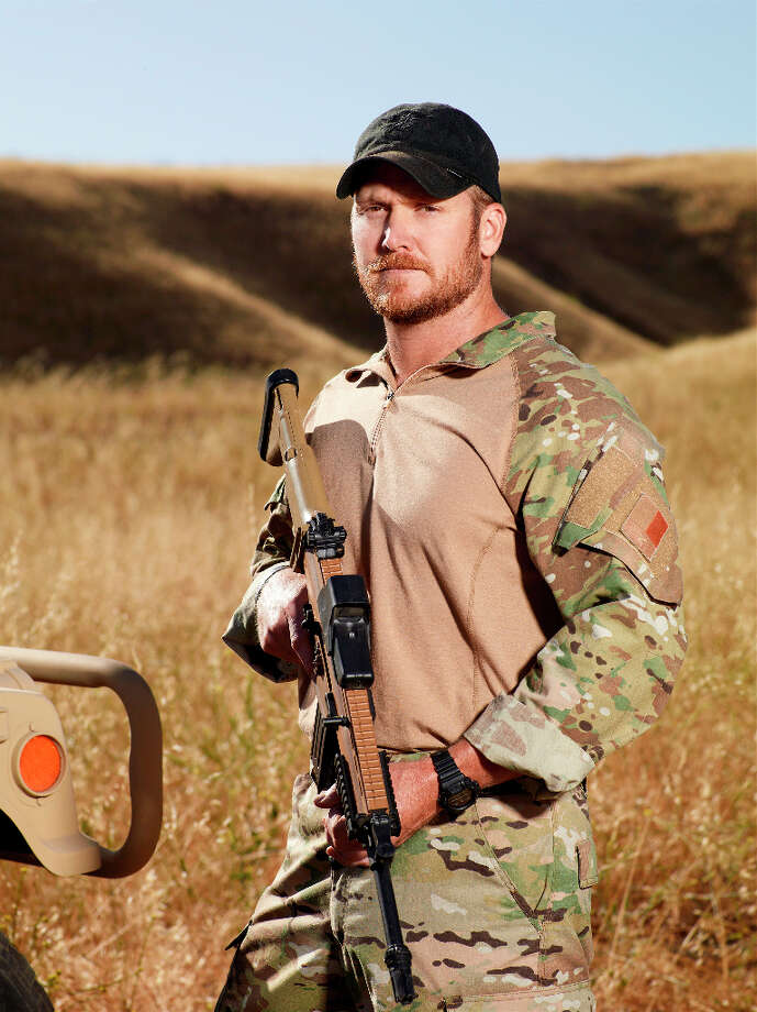Former Navy SEAL Chris Kyle in an episode of Stars Earn Stripes, on NBC. Photo: NBC, NBCU Photo Bank Via Getty Images / 2012 NBCUniversal Media, LLC