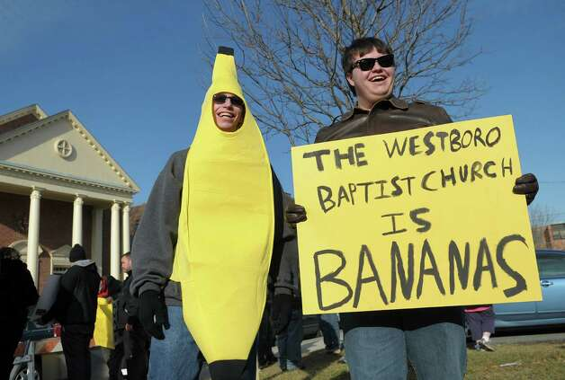 A Spring resident started a petition asking that Westboro Church be recognized as a hate group. With their controversial signs covered in very colorful language, the Westboro church doesn't get a lot of positive press.  and over 300,000 people have signed the petition. (CLOSED: AWAITING RESPONSE) Photo: Associated Press / Express-Times