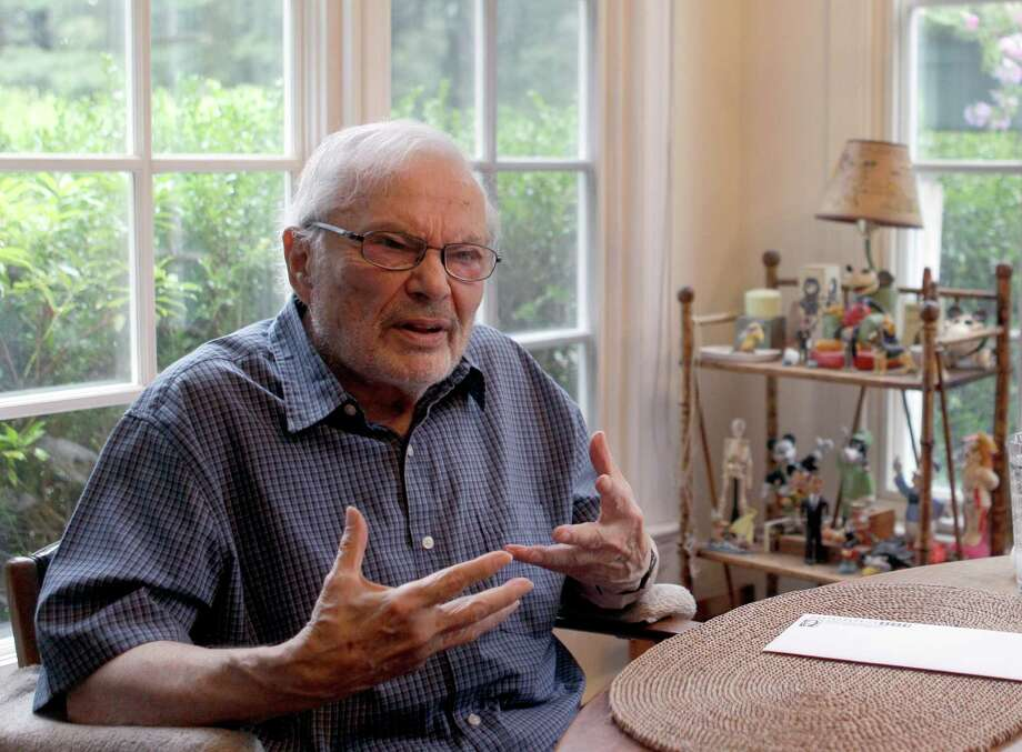 """FILE - In this Sept. 6 2011 file photo, children's book author Maurice Sendak is photographed doing an interview at his home in Ridgefield, Conn. Sendak died last May at age 83 after years of health problems, but had managed to finish """"My Brother's Book,"""" published this week.  (AP Photo/Mary Altaffer, file) Photo: Mary Altaffer"""