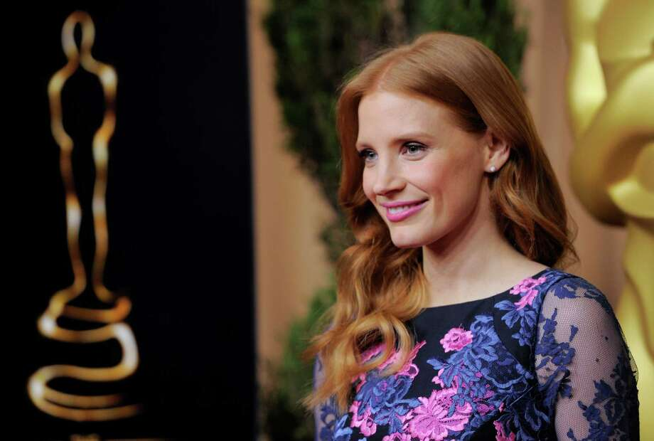 "Jessica Chastain, nominated for best actress in a leading role for ""Zero Dark Thirty,"" arrives at the 85th Academy Awards Nominees Luncheon at the Beverly Hilton Hotel on Monday, Feb. 4, 2013, in Beverly Hills, Calif. (Photo by Chris Pizzello/Invision/AP) Photo: Chris Pizzello"