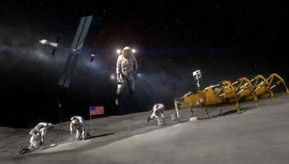 Artist rendition of humans working on an asteroid. Photo: Ellison, Jake, NASA