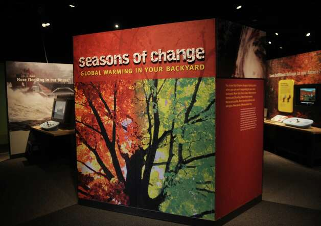 Seasons of Change: Global Warming in Your Backyard, discusses the local effects of climate change at the Peabody Museum in New Haven. Photo: Brian A. Pounds