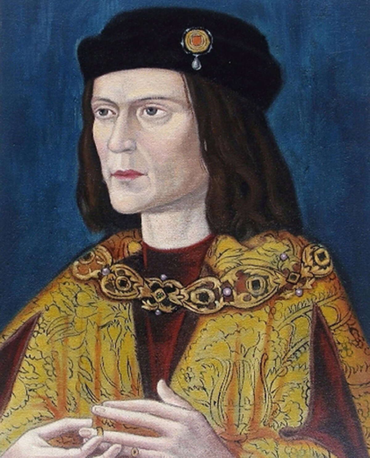 This is a photo of the earliest surviving portrait of Richard III in Leicester Cathedral. In early February, British scientists used DNA testing to confirm that unearthed remains beneath a parking lot did in fact belong to the medieval king. Related: Court battle over Richard III reburial adjourned