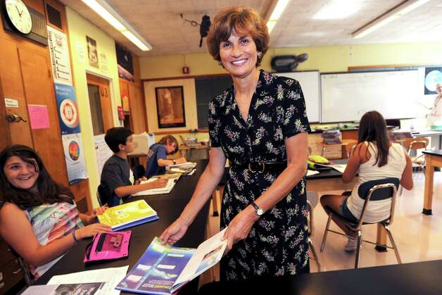 Western Middle School Principal Terry Starr-Klein, who has a career in education that spans 38 years, will retire June 30. Photo: Helen Neafsey, Grnwich Time / Greenwich Time