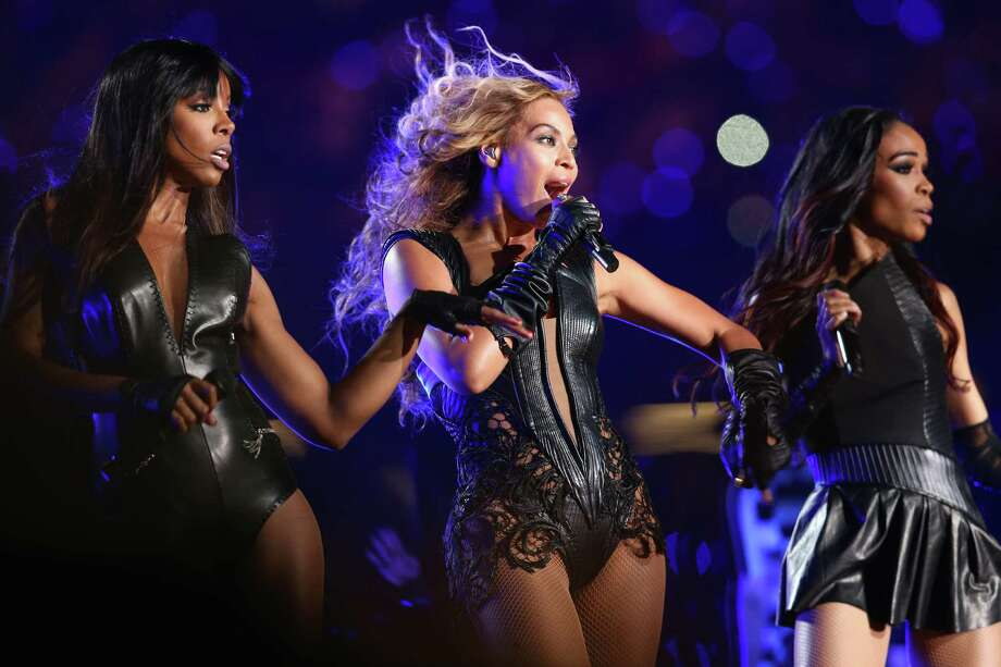 Kelly Rowland, from left, Beyoncé and Michelle Williams perform during Sunday's Super Bowl XLVII Halftime Show. Photo: Christopher Polk, Staff / 2013 Getty Images