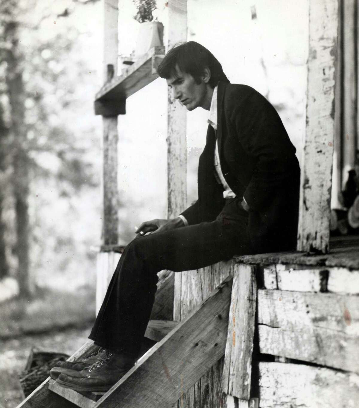Townes Van Zandt in BE HERE TO LOVE ME, a Palm Pictures release 2005. Photo courtesy of Jeanene Van Zandt. Photo courtesy Wood Newton emailed photo
