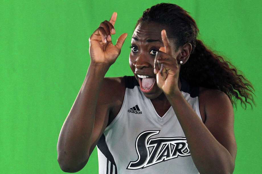 Sophia Young dances for a video as the Silver Stars participate in media day at the AT&T Center on May 16, 2012. Tom Reel/ San Antonio Express-News Photo: TOM REEL, Express-News / San Antonio Express-News
