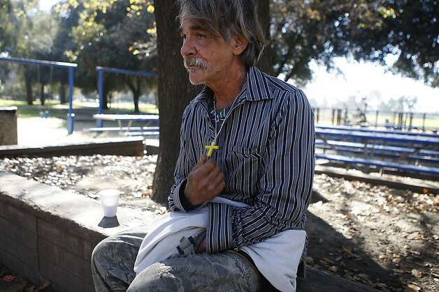 Eric May, a homeless man, said he found the body of 13-year-old Green Valley Middle School student Genelle Renee Conway-Allen at Allan Witt Park in Fairfield, Calif., before alerting passing police. Photo: Liz Hafalia, The Chronicle