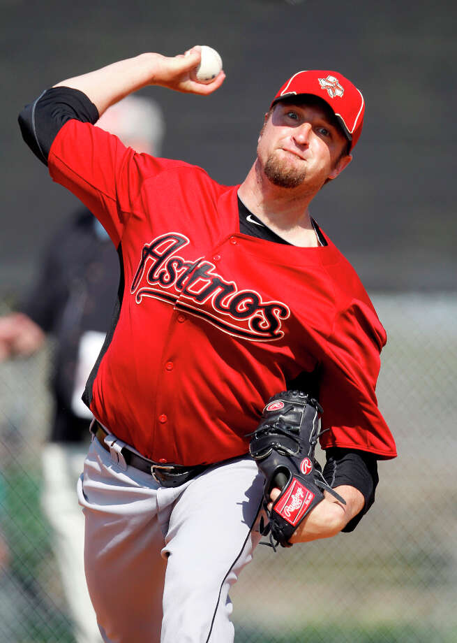 Brandon LyonPosition:PNew team: Toronto Blue Jays Photo: Karen Warren / © 2012  Houston Chronicle