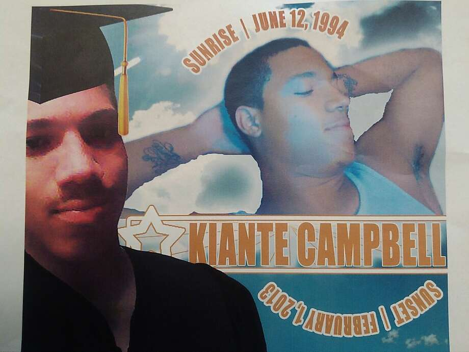 Collage at Ralph J. Bunche High School in Oakland of Kiante Campbell, killed after an art-gallery walk event in the city on Feb. 1, 2013. Photo: Henry K. Lee