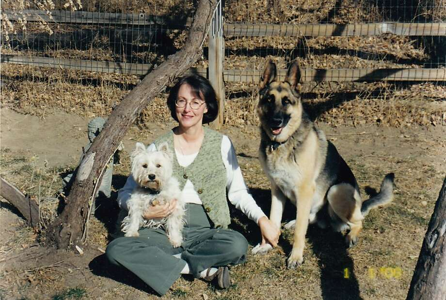 Chama (right) - with Wicket and Holly Field - was ready to lend 105 pounds of moral support. Photo: Courtesy Holly Field
