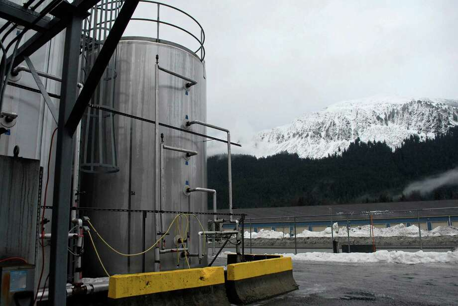 In this photo taken Jan 23, 2013, in Juneau, Alaska, is the outside of the Alaskan Brewing Co. The brewery has installed a unique boiler system that burns the company's dried, spent grain or waste accumulated by the brewing process into steam which powers the majority of the plant's operations. (AP Photo/Joshua Berlinger) Photo: Joshua Berlinger