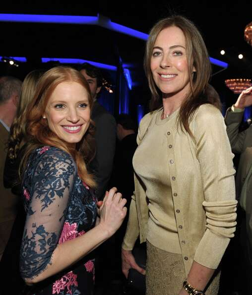 Jessica Chastain, left, nominated for best actress in a leading role and Kathryn Bigelow, nominated