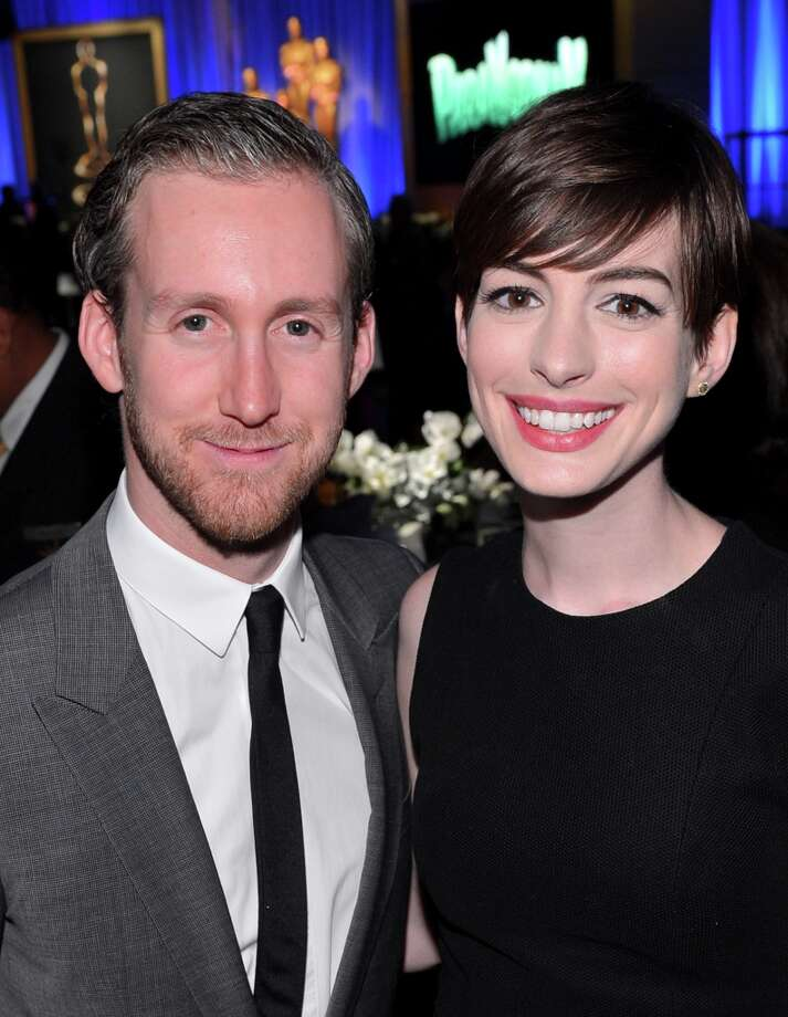 BEVERLY HILLS, CA - FEBRUARY 04:  Actress Anne Hathaway (R) and actor Adam Shulman attend the 85th Academy Awards Nominations Luncheon at The Beverly Hilton Hotel on February 4, 2013 in Beverly Hills, California. Photo: Alberto E. Rodriguez, Getty Images / 2013 Getty Images