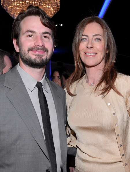 BEVERLY HILLS, CA - FEBRUARY 04:  Writer Mark Boal (L) and Director Kathryn Bigelow attend the 85th