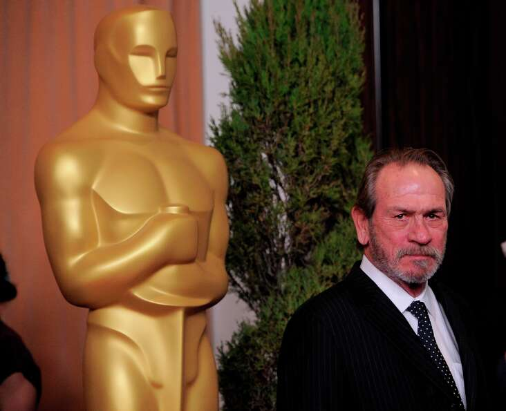Tommy Lee Jones, nominated for best actor in a supporting role for Lincoln arrives at the 85th Acade