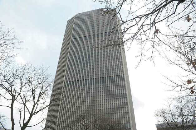 A view of the Corning Tower on the Empire State Plaza on Monday afternoon, Feb. 4, 2013 in Albany, NY.  (Paul Buckowski / Times Union) Photo: Paul Buckowski