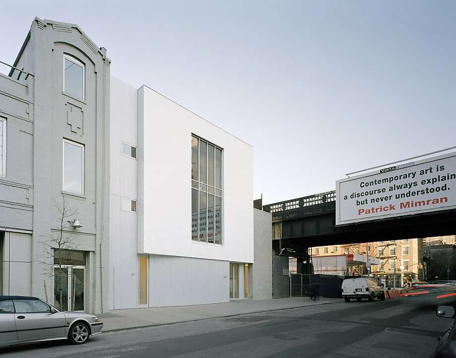 Berke designed the Marianne Boesky Gallery, a three-story collage of corrugated metal against concrete block against glazed white brick near New York City's popular High Line. Photo: Eduard Hueber, Deborah Berke Partners