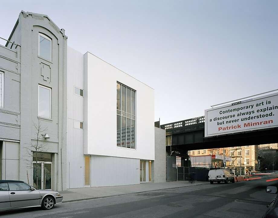 Berke designed the Marianne Boesky Gallery, a three-story collage of corrugated metal against concrete block against glazed white brick near New York City's popular High Line. Photo: Eduard Hueber, Deborah Berke Partners
