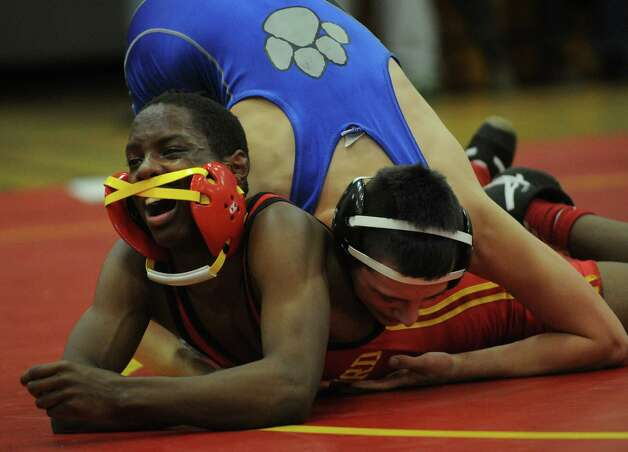 Stratford v. Bunnell wrestling meet at Stratford High School on Monday, February 4, 2013. Photo: Brian A. Pounds