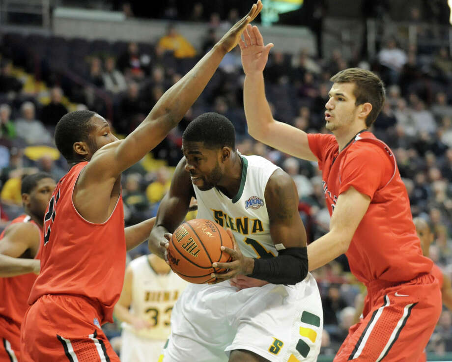 Siena's O.D. Anoskie drives to the basket during a basketball game against Fairfield at the Times Union Center on Monday Feb. 4, 2013 in Albany, N.Y. (Lori Van Buren / Times Union) Photo: Lori Van Buren