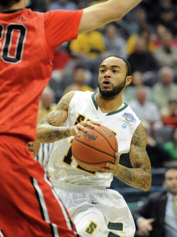 Siena's Rakeem Brookins drives to the basket during a basketball game against Fairfield at the Times Union Center on Monday Feb. 4, 2013 in Albany, N.Y. (Lori Van Buren / Times Union) Photo: Lori Van Buren