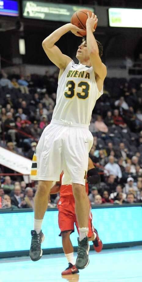 Siena's Rob Poole makes a basket during a basketball game against Fairfield at the Times Union Center on Monday Feb. 4, 2013 in Albany, N.Y. (Lori Van Buren / Times Union) Photo: Lori Van Buren