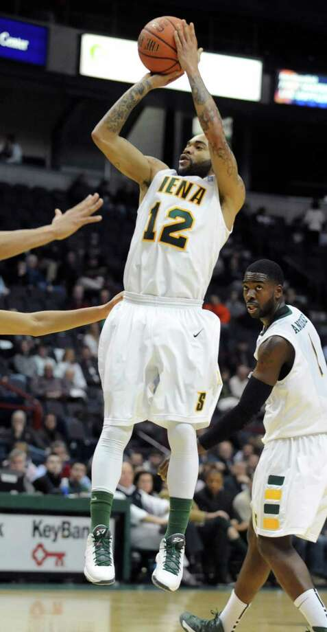 Siena's Rakeem Brookins makes a basket during a basketball game against Fairfield at the Times Union Center on Monday Feb. 4, 2013 in Albany, N.Y. (Lori Van Buren / Times Union) Photo: Lori Van Buren
