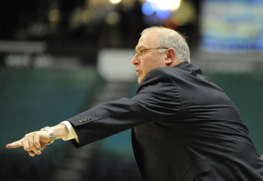 Siena head coach Mitch Buonaguro yells from the sideline during a basketball game against Fairfield at the Times Union Center on Monday Feb. 4, 2013 in Albany, N.Y. (Lori Van Buren / Times Union) Photo: Lori Van Buren