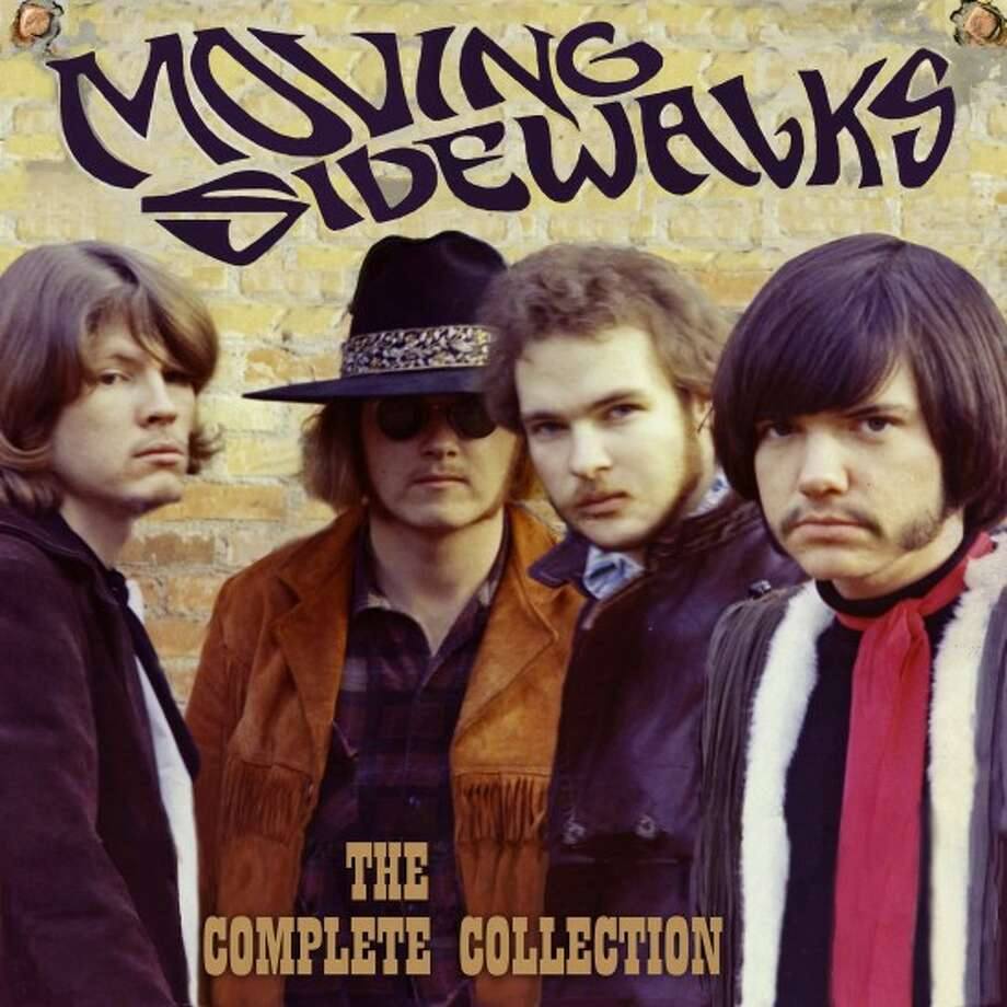 "The cover of ""Moving Sidewalks: The Complete Collection,"" features black-hatted bassist Don Summers flanked by keyboardist Tom Moore, left, guitarist/singer Billy Gibbons, and drummer Dan Mitchell, right."